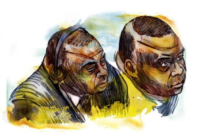 Jean-Pierre Bemba lors de son procès © Illustration Damien Roudeau