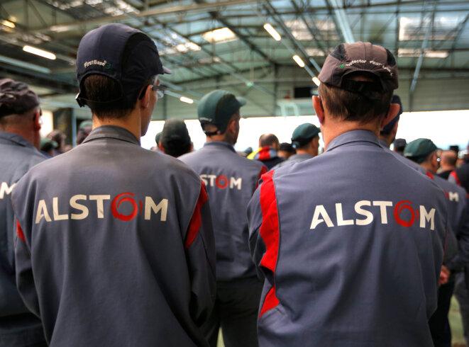 Dans l'usine Alstom de Reichshoffen (Bas-Rhin), en décembre 2016. © Reuters