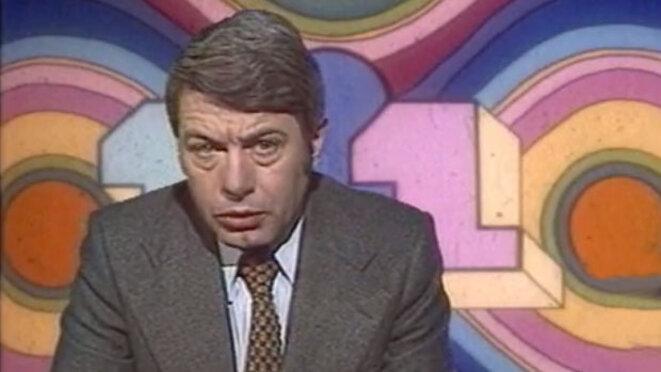 Roger Gicquel le 18 février 1976