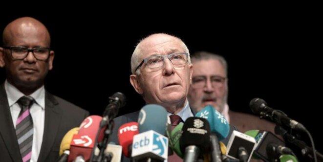 Jean-René Etchegaray, maire UDI de Bayonne © © IROZ GAIZKA AFP
