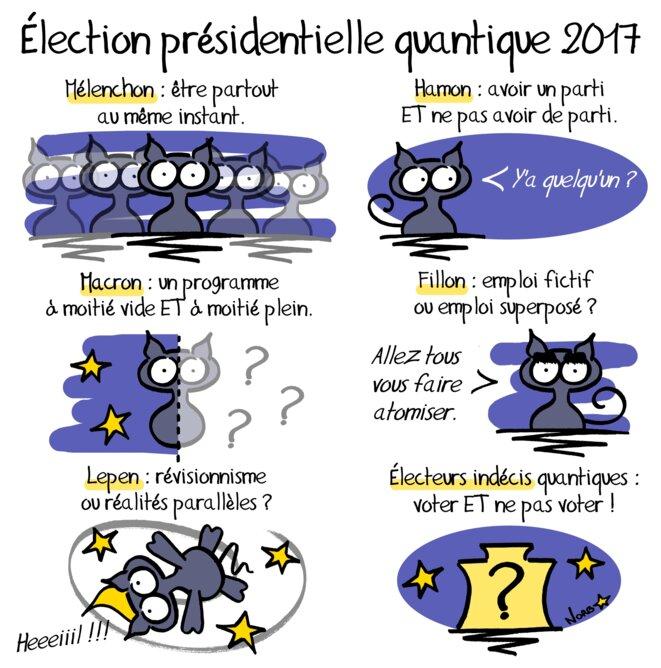 Élection présidentielle quantique 2017 © Norb