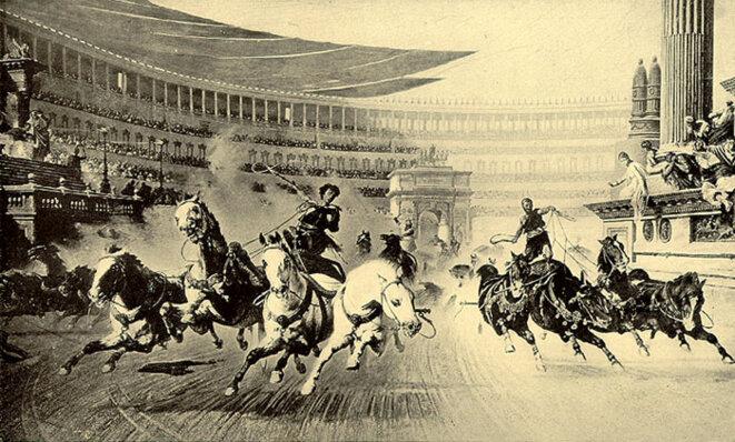 Course de chars, par Albert Kuhn (1913) © Wikipedia