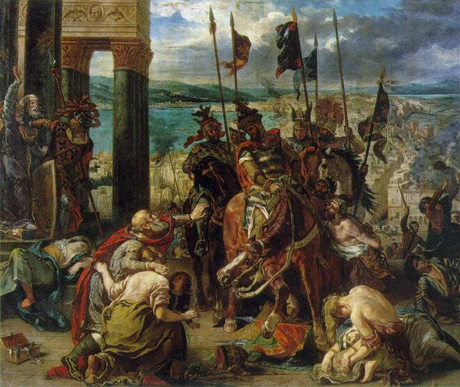 """Eugène Delacroix, """"L'entrée des croisés à Constantinople"""", 1840"""