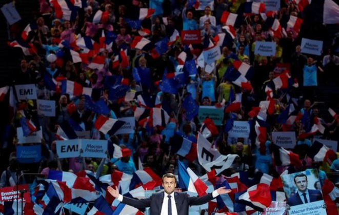Emmanuel Macron just a few days before the first round of the election. © Reuters