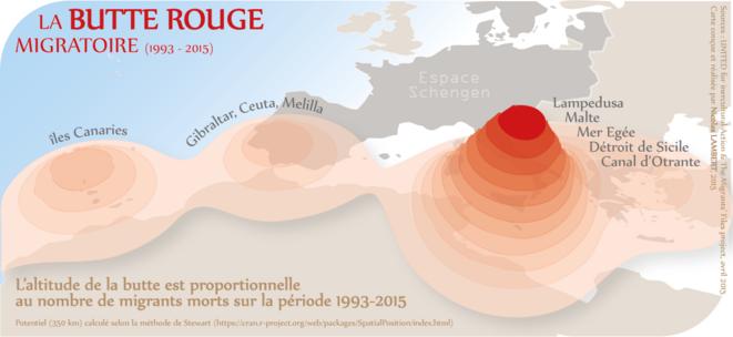La butte rouge migratoire © Nicolas Lambert