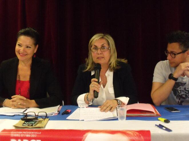 De gauche à droite : Lisette Narducci - Dominique Giner Fauchoux - Didier Dallari © Philippe Léger