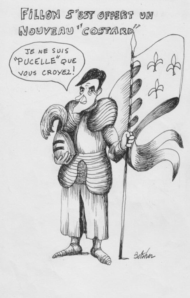 François Fillon croqué par Bernard Thomas-Roudeix © Bernard Thomas-Roudeix