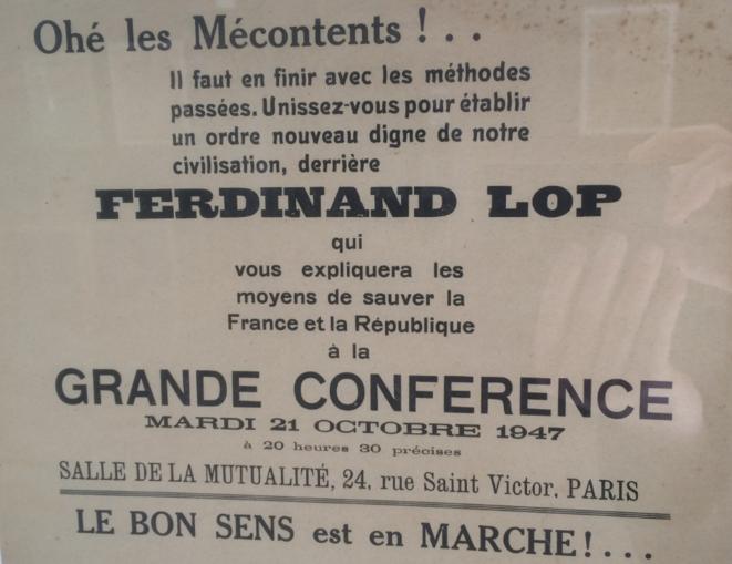 Où il appert que Ferdinand Lop était déjà « en marche ! » voilà soixante-dix ans...