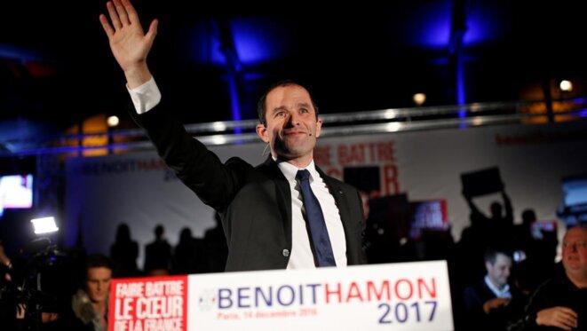Benoît Hamon en campagne de primaire © Reuters