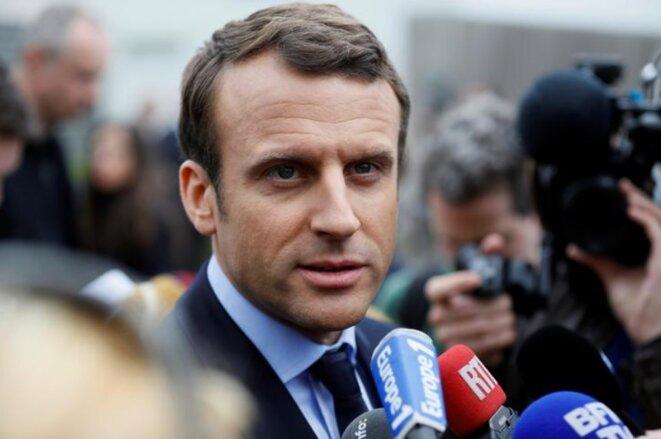 Emmanuel Macron, le 18 avril 2017 © Reuters