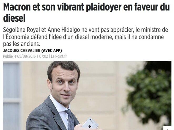 Quand Macron ministre défendait le Diesel mordicus !