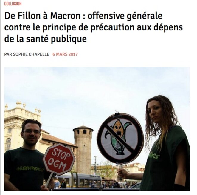 Lire l'article de Basta sur Macron et le principe de précaution