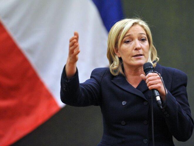 Marine Le Pen, cadidate FN à la Présidentielle © © FTV