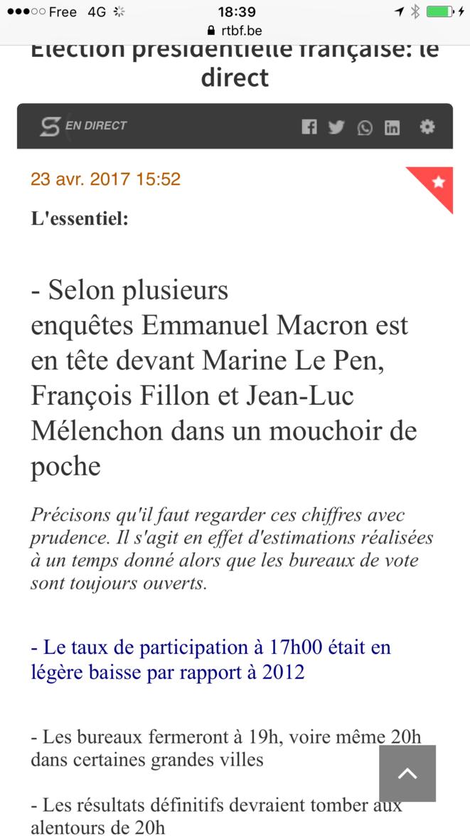 Emmanuel Macron vainqueur au Premier Tour des Présidentielles françaises