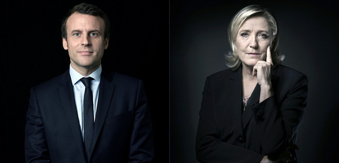 Macron/Le Pen les deux candidats qualifiés au second tour de l'élection présidentielle © Le Figaro