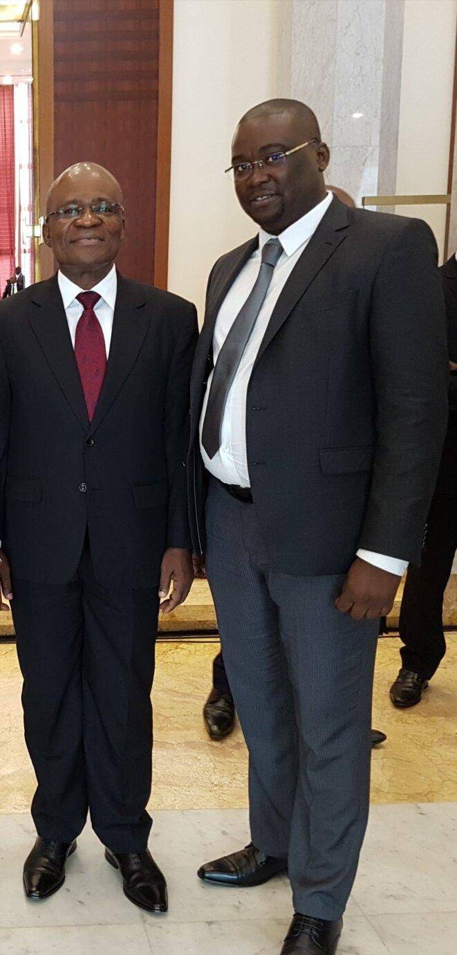 Faustin Boukoubi, secrétaire général du PDG et Fred MAISSA, Secrétaire Fédéral a.i-France