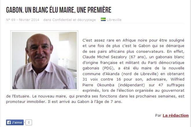 Claude Sezalory, promoteur immobilier, Maire d'Akanda