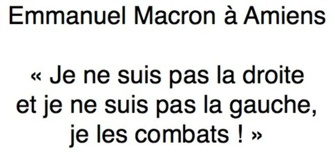 Emmeanuel Macron combat la gauche