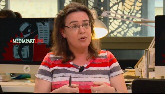 Sophie Béroud (ici lors d'un Live de Mediapart le 14 avril 2016) estime que la lutte contre le FN peut souder l'unité syndicale.