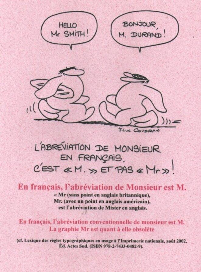 Abréviation  de monsieur © x