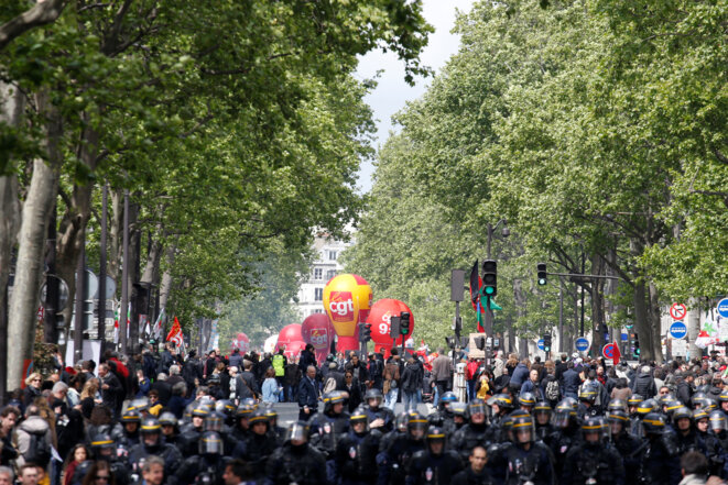 Le 1er Mai, à Paris. © Reuters/Gonzalo Fuentes
