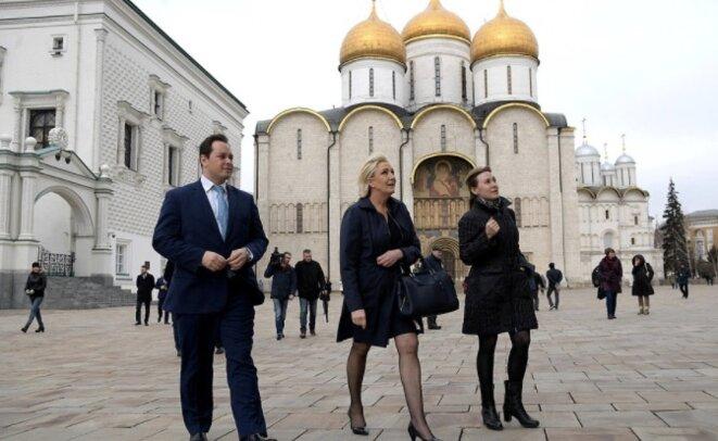 Marine Le Pen lors de sa visite à Moscou, le 24 mars 2017. © Site Internet du Kremlin