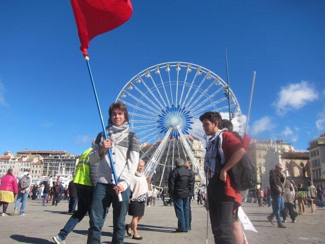 Gabriel, lycéen à Marseilleveyre et membre de l'Union nationale lycéenne. © LF