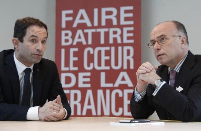 Benoît Hamon et Bernard Cazeneuve © Reuters