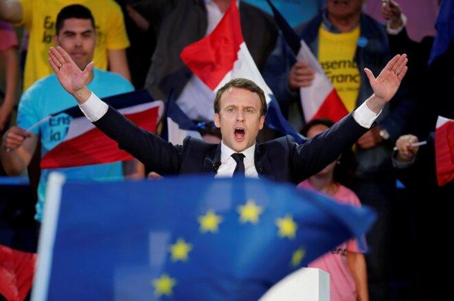Emmanuel Macron à Albi, le 4 mai 2017 © Reuters