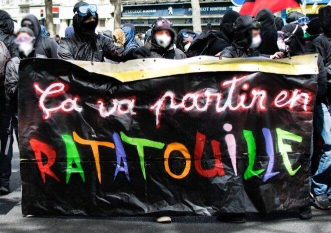 Manifestants à Paris le 1er Mai 2017. © paris-luttes.info