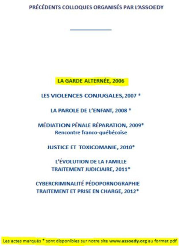 Capture d'écran de la liste des rapports archivés par l'ASSOEDY © ASSOEDY