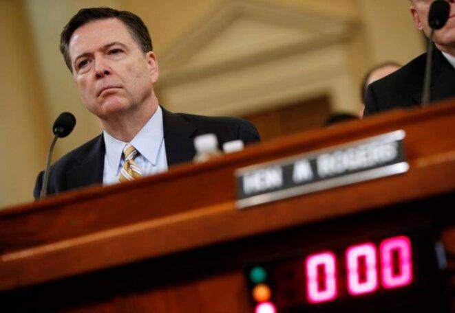 James Comey, lundi 20 mars, devant la commission du renseignement du Parlement américain. © Reuters