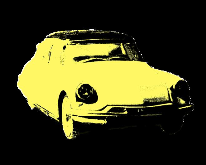 """La célèbre Citroën DS, """"nouvelle cathédrale gothique"""" pour Barthes, orne l'édition de poche des """"Mythologies"""". © Antoine Marquet"""
