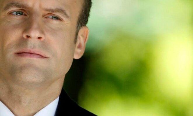Emmanuel Macron le 10 mai, lors de la commémoration de l'abolition de l'esclavage, au jardin du Luxembourg © Reuters