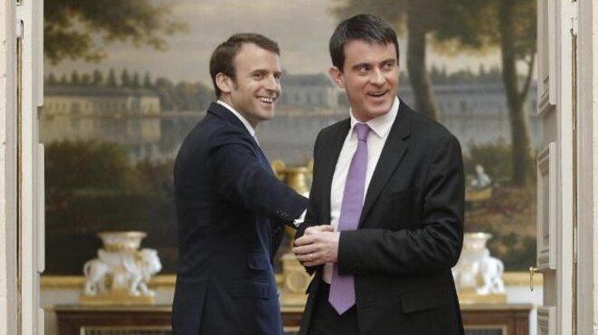 Emmanuel Macron et Manuel Valls © Reuters