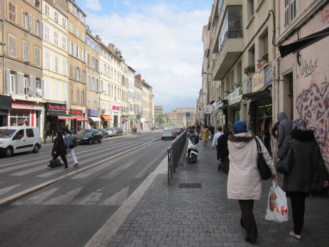 À Marseille, la 4e circonscription, où se présente Jean-Luc Mélenchon, compte les quartiers urbains les plus pauvres de France. © LF