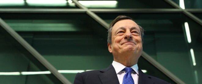 Mario Draghi, patron de la BCE, le 27 avril à Francfort (Allemagne). © Reuters