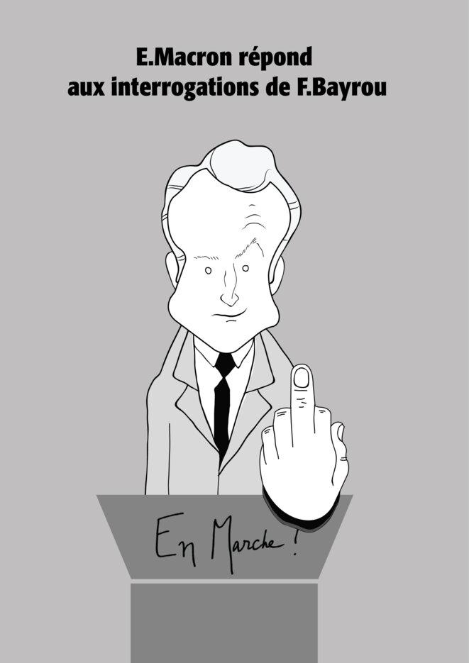 E. Macron répond aux interrogations de F. Bayrou...