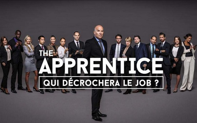 """Bruno Bonnell (au premier rang) incarna en 2015 le """"boss"""" dans la version française de """"The Apprentice"""", le show télé qui fit connaître Donald Trump"""