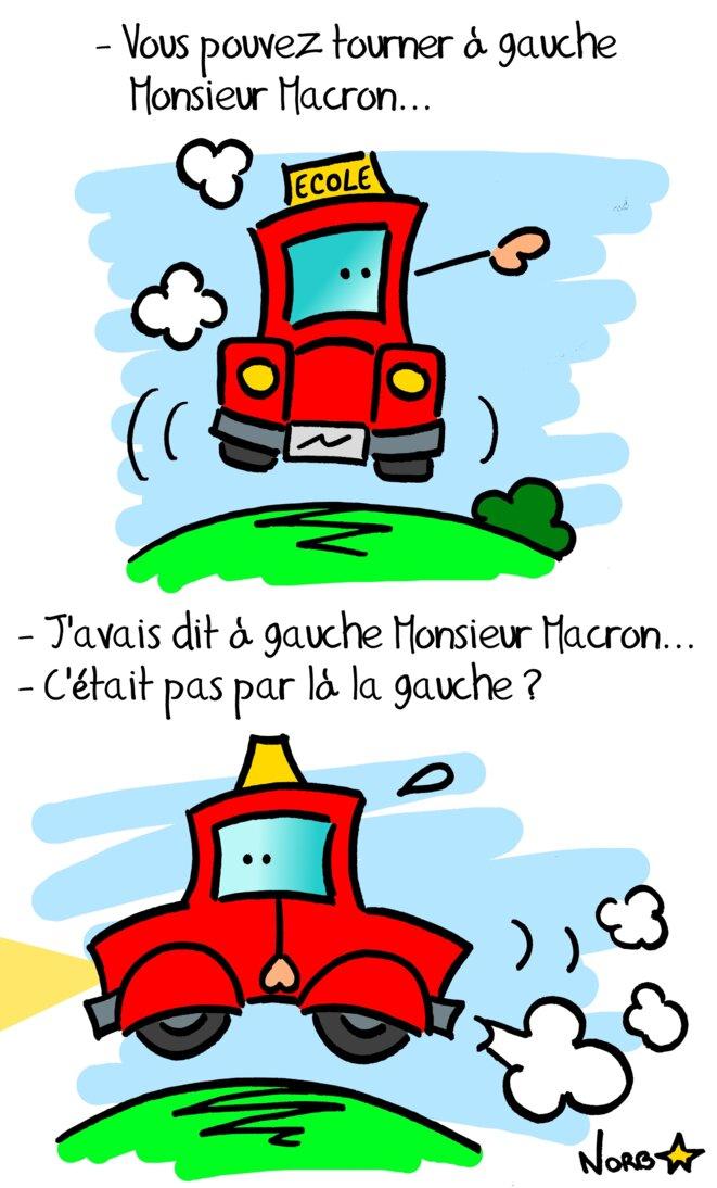 Quand Macron passait son permis © Norb