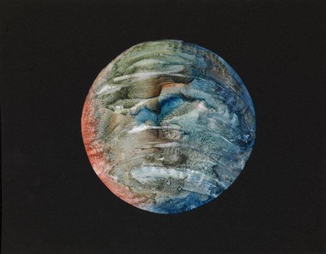 Evguéni Mikhnov-Voïtenko, Planètes (série de huit travaux, techniques mixtes, papier) © Mikhnov