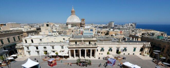 Place St. George, à La Valette, capitale de Malte. © Reuters