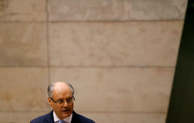 Edward Scicluna, le ministre maltais des finances, le 17 octobre 2016, à La Valette. © Reuters