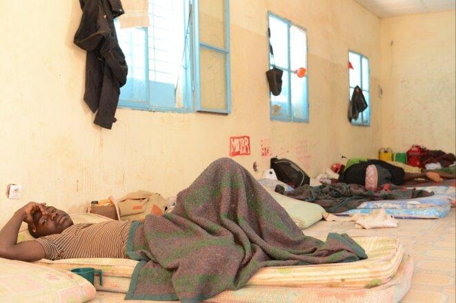 Dans le centre de transit géré par l'Organisation internationale pour les migrations (OIM) à Agadez, en mars 2017. © Sara Prestianni
