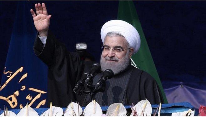 Le président Hassan Rohani, le 10 février 2017. © Reuters