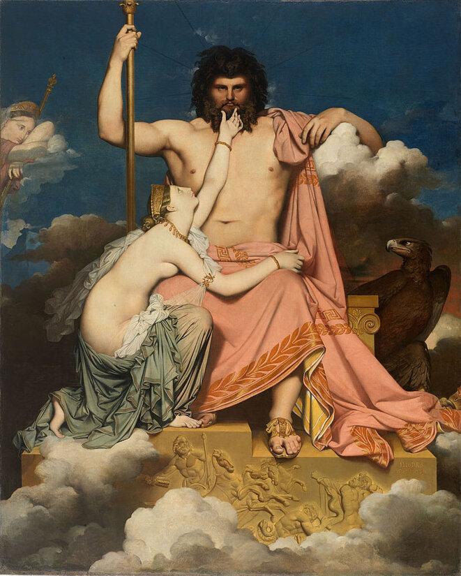 "Dominique Ingres, ""Jupiter et Thétis"", 1811"