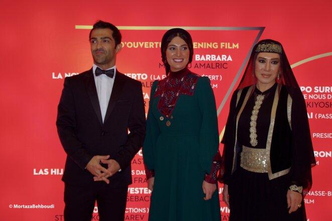 Les acteurs (Mohammed Akhlaghirad, Soudabeh Beizaee et Nasim Adabi) © Mortaza Behboudi
