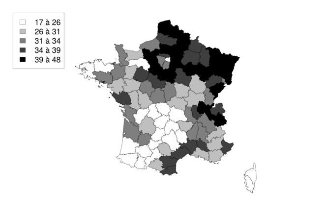 Pourcentage des nonistes ayant voté Le Pen au 1er tour