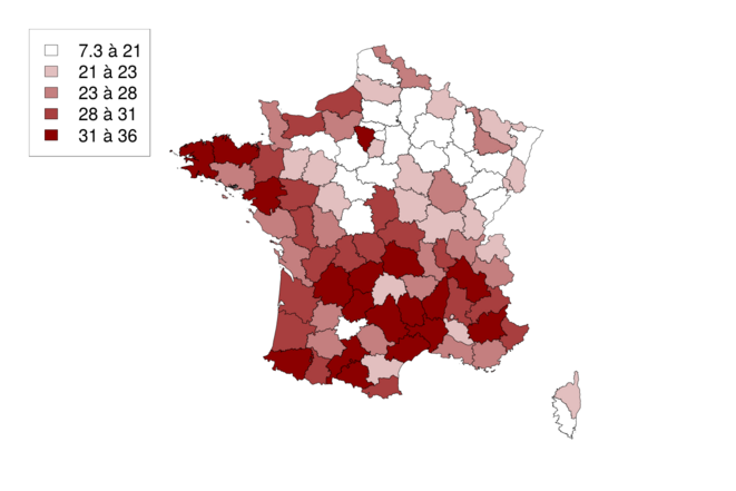 Pourcentage des nonistes ayant voté Mélenchon au 1er tour