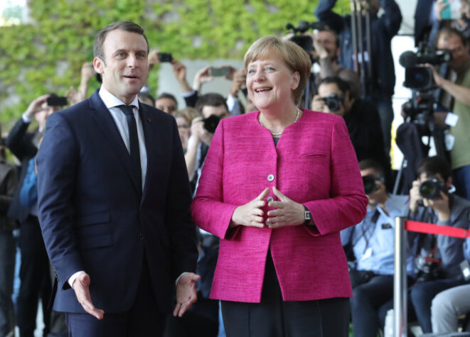 Angela MERKEL et Emmanuel  MACRON © AFP